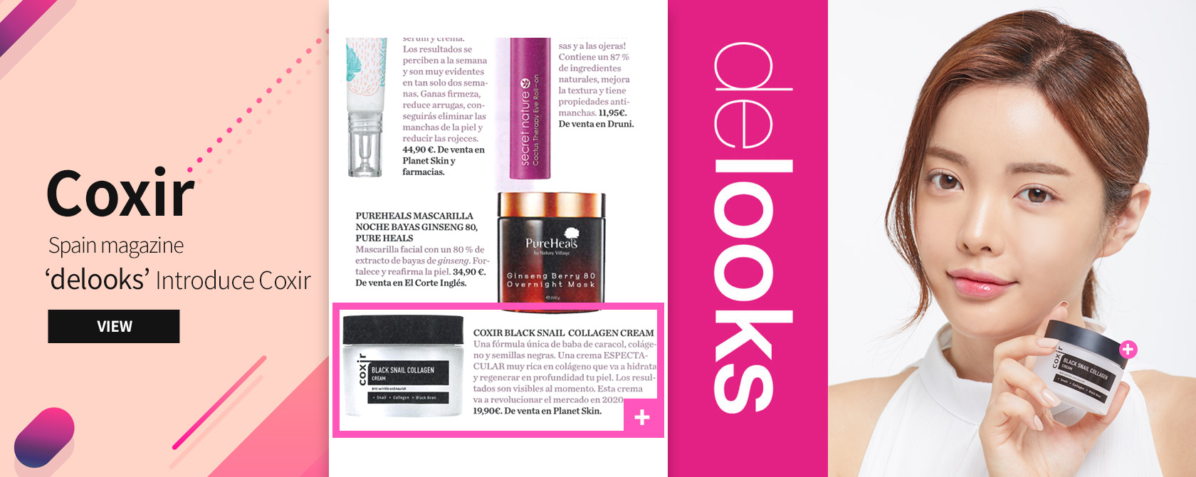 Spain magazine ' delooks ' Introduce Coxir