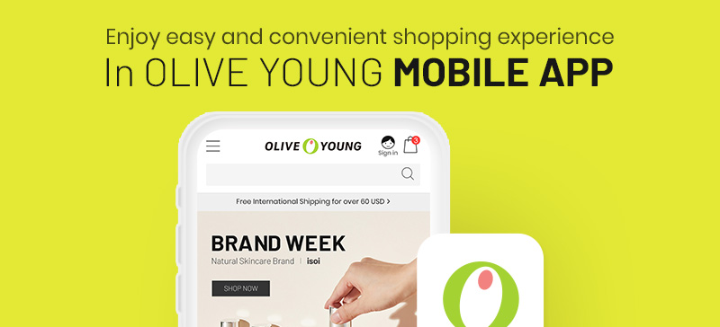 In OLIVE YOUNG MOBILE APP