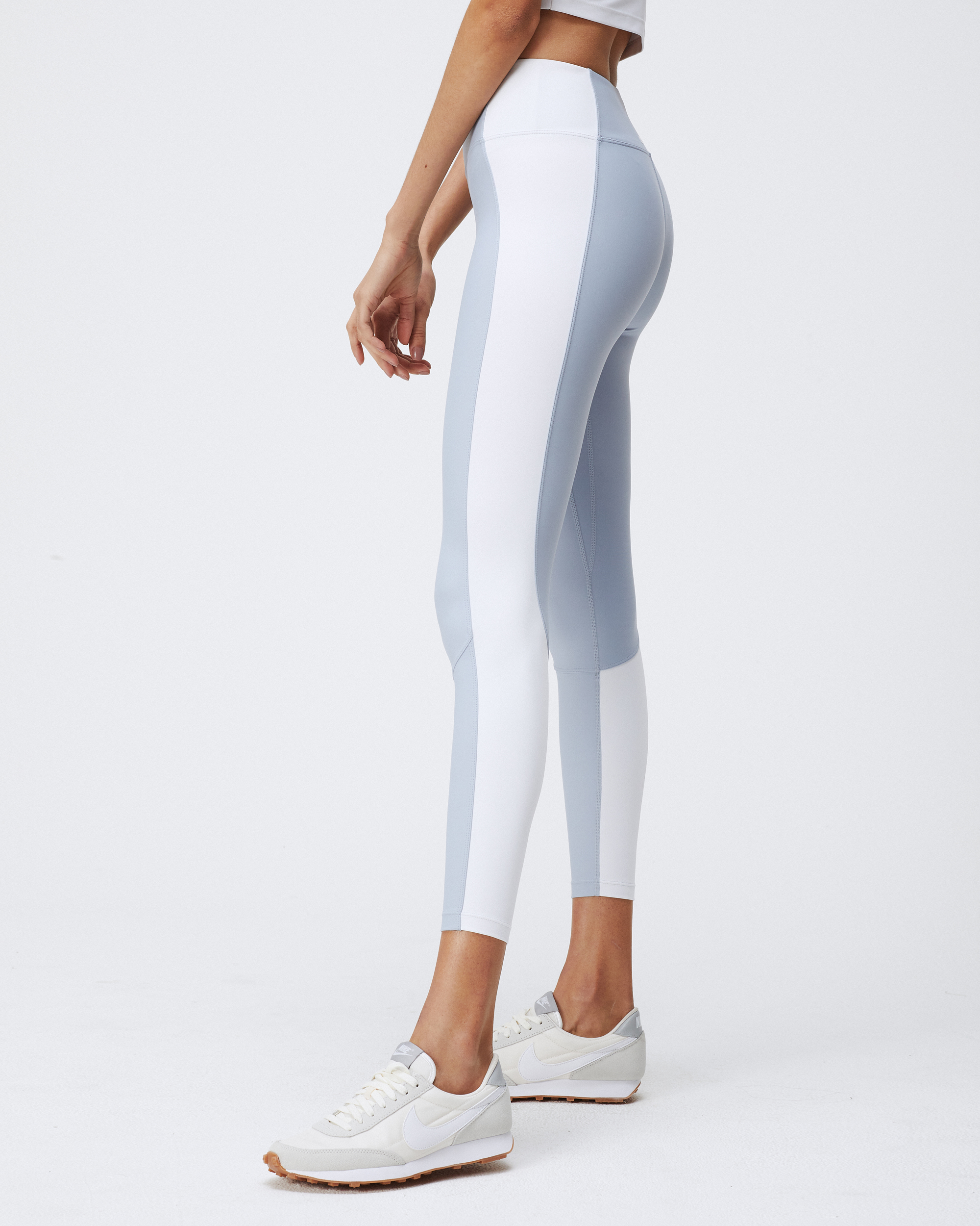 ALEX LEGGINGS CLOUDY BLUE & WHITE COMBO