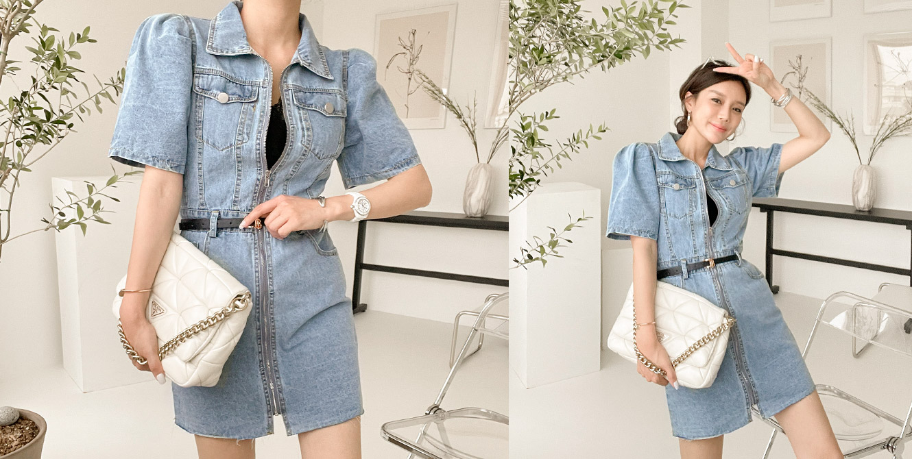 Face Denim Dress