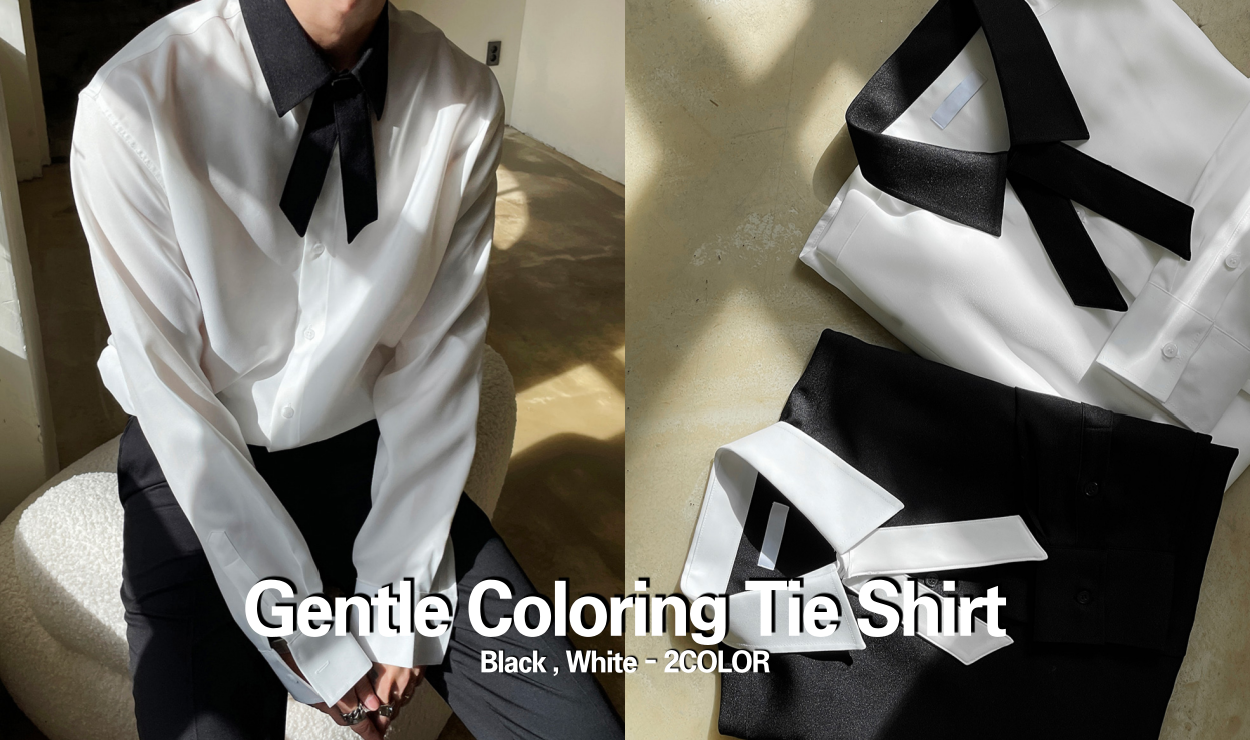 Gentle Coloring Tie Shirt