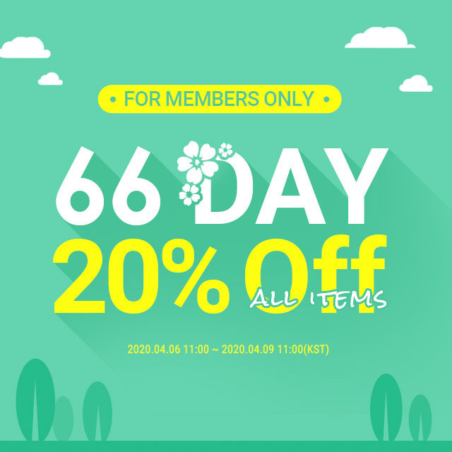 66 DAY  All items 20%OFF